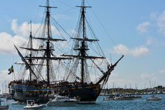 Det stora seglingskeppet östliga Indiaman Arkivfoton