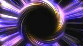 Det stora svarta hålet i ljust utrymme, tid snedvrider, distorsion av utrymme, datoren för tolkningen som 3d frambringar bakgrund Fotografering för Bildbyråer