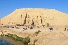 Det stora tempelet av Abu Simbel, Egypten royaltyfria foton