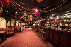 Det stora tomma rummet av karaoke - klubba FARAO Royaltyfri Bild