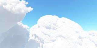 Det stora vita molnet mot himlen 3D framför Fotografering för Bildbyråer