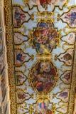 Det storartade taket av den Faneromenis kyrkan i den Zakynthos staden, Grekland arkivfoton