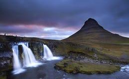 Det storartat av Kirkjufell, Island Arkivbild