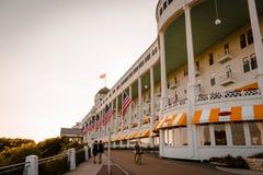 Det storslagna hotellet på den Mackinac ön Arkivfoton