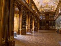 Det Strahov arkivet i Prague. Arkivfoto