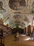 Det Strahov arkivet i Prague. Royaltyfria Bilder