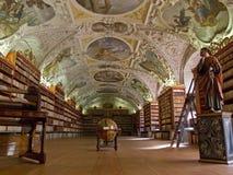 Det Strahov arkivet i Prague. Royaltyfria Foton
