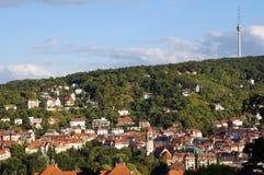 Det Stuttgart TVtornet Royaltyfria Foton