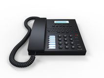 Det svart kontoret SMS ringer isolerat på vitbakgrund stock illustrationer