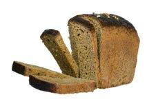 Det svarta brödet för snitt Arkivfoton