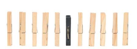 det svarta gammala ett stiftet pins träplast- Arkivfoton