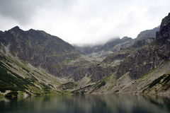 Det svarta Gasienica dammet Royaltyfria Foton