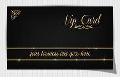 Det svarta idérika vip-kortet dekorerade med den blom- etiketten Royaltyfria Bilder
