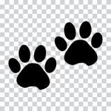 Det svarta konturdjuret tafsar spåret ocks? vektor f?r coreldrawillustration royaltyfri illustrationer