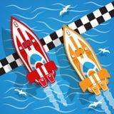 Det tävlings- fartyget royaltyfri illustrationer
