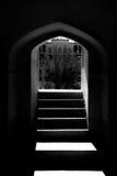 Det Tabatabayi huset är ett historiskt hus i Kashan, Iran Huset byggdes i 1857 av arkitekten Ustad Ali Maryam, för frunollan Fotografering för Bildbyråer