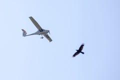 Det tandema flyget Arkivbilder