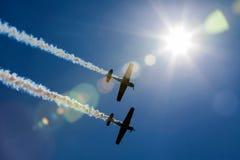 Det tandema flyget Arkivfoton