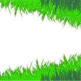 Det tecknade gröna gräset. Vektorillustration Vektor Illustrationer