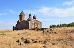 Det 13th århundradet armenisk kloster av Sagmosavank Arkivfoto