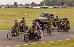 Det 75th jubileums- för världskrig II ståtar Fotografering för Bildbyråer