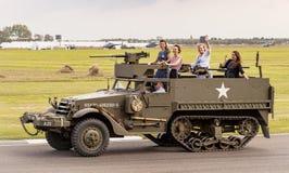 Det 75th jubileums- för världskrig II ståtar Royaltyfri Foto