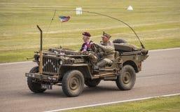 Det 75th jubileums- för världskrig II ståtar Royaltyfria Bilder