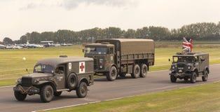 Det 75th jubileums- för världskrig II ståtar Royaltyfri Bild