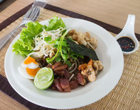 Det thailändska blocket är namnet av favorit- thailändsk mat arkivfoton