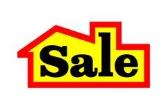 Det till salu huset undertecknar Till salu platta Arkivfoto