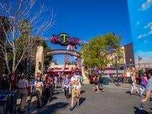 Det tokiga T-partiet i Hollywood studior på det Disney Kalifornien affärsföretaget parkerar royaltyfria foton