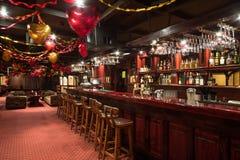 Det tomma rummet av karaoke - klubba FARAO Arkivbild