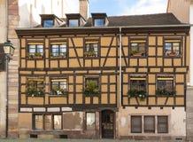 Det traditionella elsassiska huset, Strasbourg, Frankrike Arkivbild