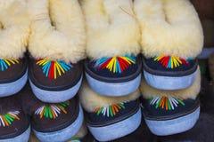 Det traditionella polska läderberget startar för barn som kallas 'K Arkivbild