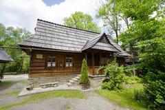 Det traditionella tvåkammar- huset, Zakopane Arkivbilder
