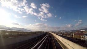 Det trainway kör stock video