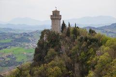 Det tredje tornet eller Montalen marino san marinorepublik san Arkivbilder