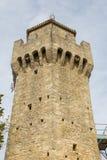 Det tredje tornet eller Montalen marino san marinorepublik san Arkivfoton