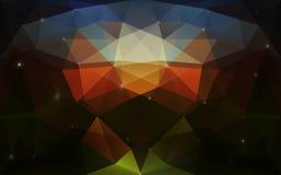 Det triangulära färgrika mörkret texturerar Arkivbild