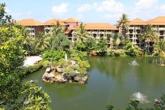 Det tropiska hotellet Arkivfoton