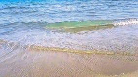 Det tropiska karibiska strandhavet med guld- sand, ferie, skott i ultrarapid, kopplar av och reser arkivfilmer