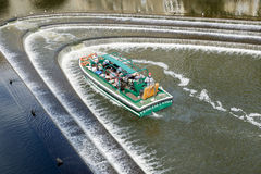 Det turist- flodfartyget turnerar, badar, Somerset, UK. Royaltyfria Bilder