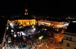Det tusentals folket under ett levande vaggar operan Royaltyfri Foto