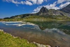 Det tvilling-, de sju Rila sjöarna, Rila berg Royaltyfri Foto