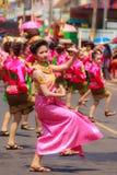 Det Udom,乌汶叻差他尼,泰国- 2015年4月13日:美丽 免版税图库摄影