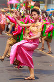 Det Udom, Ubon Ratchathani, Thailand - April 13, 2015: Beautiful. Parade and Dancing Shows in Songkran Festival Celebration. The Songkran festival is Thai New Stock Images