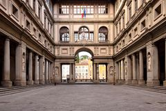 Det Uffizi gallerit i Florence arkivfoton