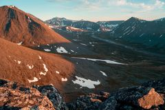 Det Urals landskapet ural berg Ryssland landskap Royaltyfri Bild
