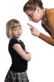 det uttråkade barnet föreläser lärare Royaltyfria Bilder