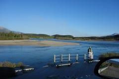 Det väldiga Yukonet River Arkivfoto